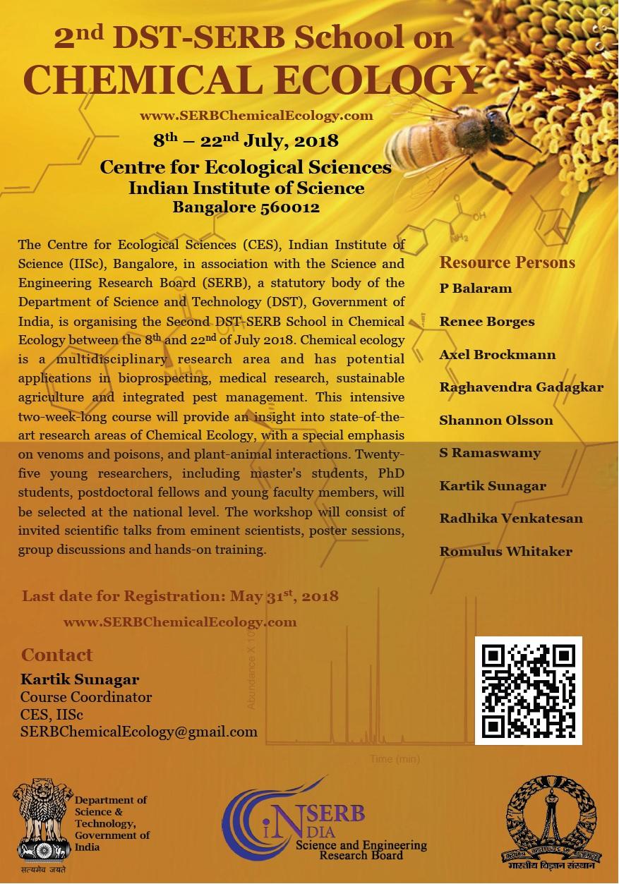 SERB School_Chemical Ecology_IISc